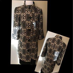 Trina Turk Geometric Print Coat
